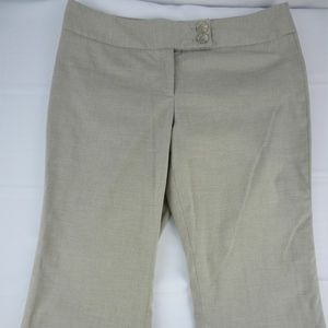 Dalia Collection 12 Pants Dress Tan Bootcut Womens